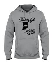 JUST A KENTUCKY GIRL IN AN INDIANA WORLD Hooded Sweatshirt thumbnail