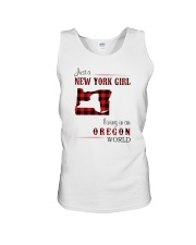 NEW YORK GIRL LIVING IN OREGON WORLD Unisex Tank thumbnail