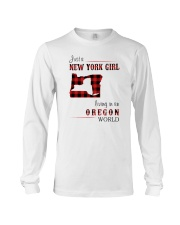 NEW YORK GIRL LIVING IN OREGON WORLD Long Sleeve Tee thumbnail
