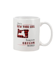 NEW YORK GIRL LIVING IN OREGON WORLD Mug thumbnail