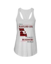 MARYLAND GIRL LIVING IN MISSOURI WORLD Ladies Flowy Tank thumbnail