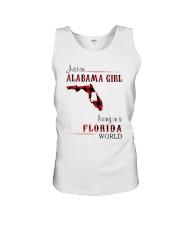 ALABAMA GIRL LIVING IN FLORIDA WORLD Unisex Tank thumbnail