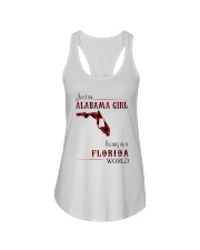 ALABAMA GIRL LIVING IN FLORIDA WORLD Ladies Flowy Tank thumbnail