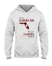 ALABAMA GIRL LIVING IN FLORIDA WORLD Hooded Sweatshirt thumbnail