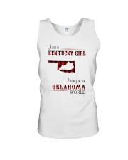 KENTUCKY GIRL LIVING IN OKLAHOMA WORLD Unisex Tank thumbnail