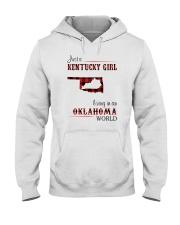 KENTUCKY GIRL LIVING IN OKLAHOMA WORLD Hooded Sweatshirt thumbnail