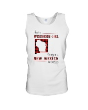 WISCONSIN GIRL LIVING IN NEW MEXICO WORLD Unisex Tank thumbnail