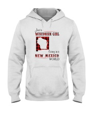 WISCONSIN GIRL LIVING IN NEW MEXICO WORLD Hooded Sweatshirt thumbnail
