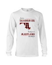 SALVADORAN GIRL LIVING IN MARYLAND WORLD Long Sleeve Tee thumbnail