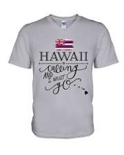 HAWAII IS CALLING AND I MUST GO V-Neck T-Shirt thumbnail