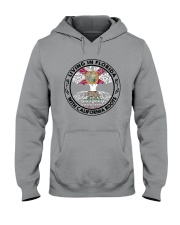 LIVING IN FLORIDA WITH CALIFORNIA ROOTS Hooded Sweatshirt thumbnail