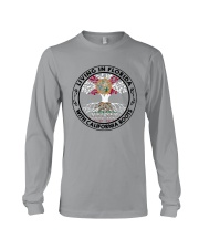 LIVING IN FLORIDA WITH CALIFORNIA ROOTS Long Sleeve Tee thumbnail
