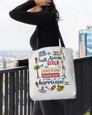 SOUTH AFRICAN GIRLS SUNSHINE MIXED HURRICANE All-over Tote aos-all-over-tote-lifestyle-front-05