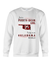 PUERTO RICAN GIRL LIVING IN OKLAHOMA WORLD Crewneck Sweatshirt thumbnail