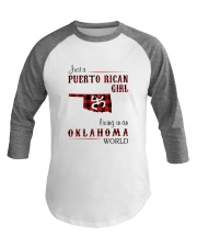 PUERTO RICAN GIRL LIVING IN OKLAHOMA WORLD Baseball Tee tile