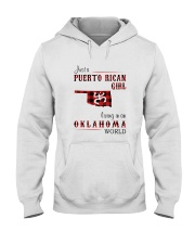 PUERTO RICAN GIRL LIVING IN OKLAHOMA WORLD Hooded Sweatshirt tile