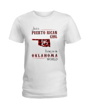 PUERTO RICAN GIRL LIVING IN OKLAHOMA WORLD Ladies T-Shirt thumbnail