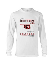 PUERTO RICAN GIRL LIVING IN OKLAHOMA WORLD Long Sleeve Tee tile
