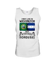 LIVE IN WASHINGTON BEGAN IN HONDURAS Unisex Tank thumbnail