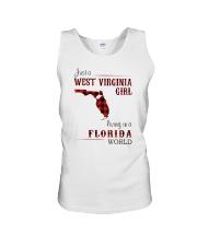 WEST VIRGINIA GIRL LIVING IN FLORIDA WORLD Unisex Tank thumbnail
