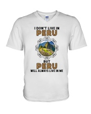 PERU WILL ALWAYS LIVE IN ME V-Neck T-Shirt thumbnail