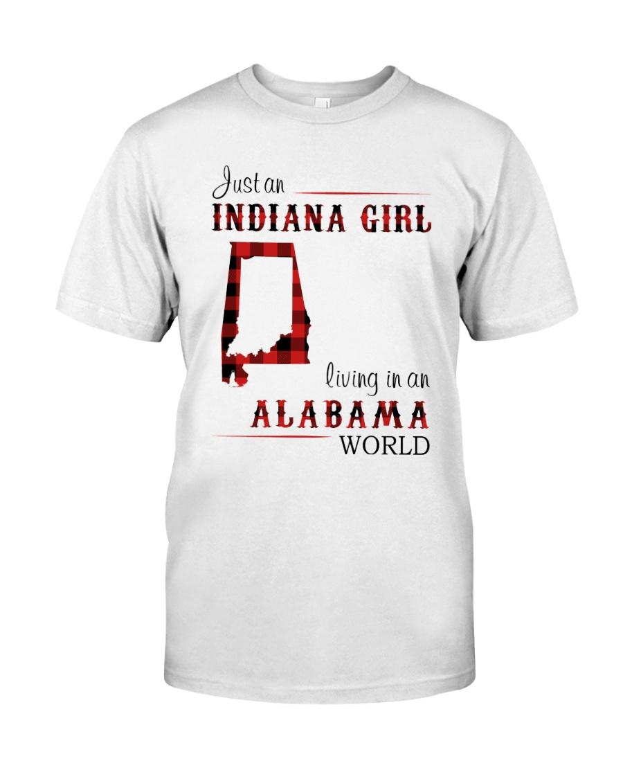 INDIANA GIRL LIVING IN ALABAMA WORLD Classic T-Shirt