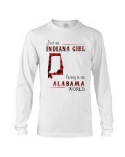 INDIANA GIRL LIVING IN ALABAMA WORLD Long Sleeve Tee thumbnail