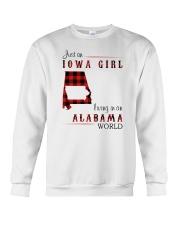 IOWA GIRL LIVING IN ALABAMA WORLD Crewneck Sweatshirt thumbnail