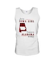 IOWA GIRL LIVING IN ALABAMA WORLD Unisex Tank thumbnail