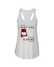 IOWA GIRL LIVING IN ALABAMA WORLD Ladies Flowy Tank thumbnail