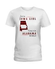 IOWA GIRL LIVING IN ALABAMA WORLD Ladies T-Shirt thumbnail