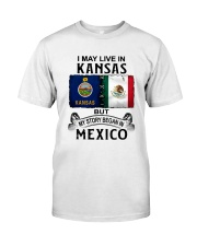 LIVE IN KANSAS BEGAN IN MEXICO Classic T-Shirt tile