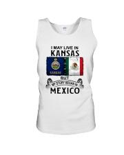 LIVE IN KANSAS BEGAN IN MEXICO Unisex Tank thumbnail