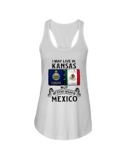 LIVE IN KANSAS BEGAN IN MEXICO Ladies Flowy Tank thumbnail