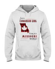 CANADIAN GIRL LIVING IN MISSOURI WORLD Hooded Sweatshirt thumbnail