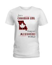 CANADIAN GIRL LIVING IN MISSOURI WORLD Ladies T-Shirt thumbnail