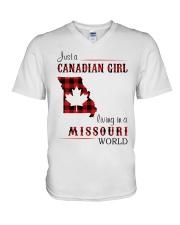 CANADIAN GIRL LIVING IN MISSOURI WORLD V-Neck T-Shirt thumbnail