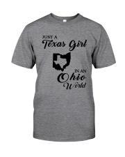 JUST A TEXAS GIRL IN AN OHIO WORLD Classic T-Shirt thumbnail