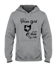 JUST A TEXAS GIRL IN AN OHIO WORLD Hooded Sweatshirt thumbnail