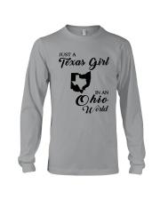 JUST A TEXAS GIRL IN AN OHIO WORLD Long Sleeve Tee thumbnail