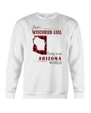 WISCONSIN GIRL LIVING IN ARIZONA WORLD Crewneck Sweatshirt thumbnail