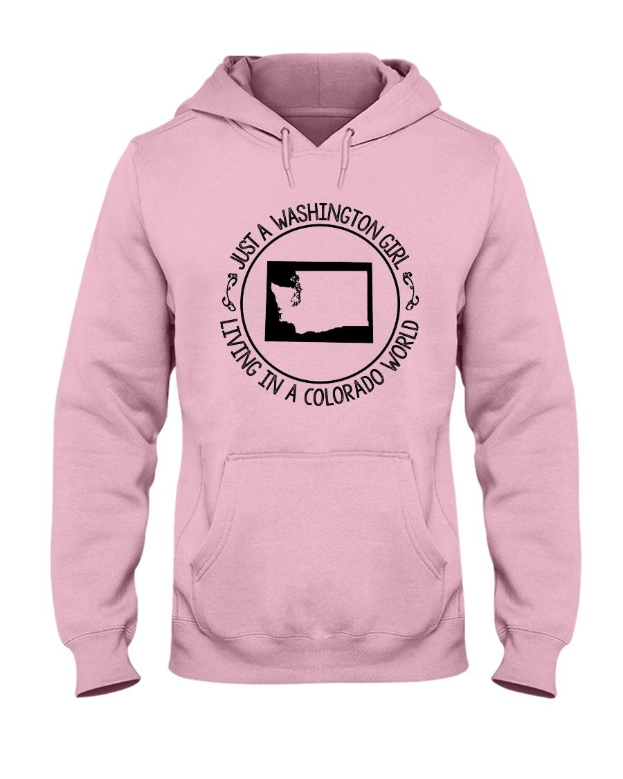 WASHINGTON GIRL LIVING IN COLORADO WORLD Hooded Sweatshirt
