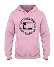 WASHINGTON GIRL LIVING IN COLORADO WORLD Hooded Sweatshirt front