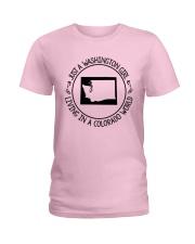 WASHINGTON GIRL LIVING IN COLORADO WORLD Ladies T-Shirt thumbnail