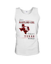 MARYLAND GIRL LIVING IN TEXAS WORLD Unisex Tank thumbnail