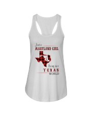MARYLAND GIRL LIVING IN TEXAS WORLD Ladies Flowy Tank thumbnail