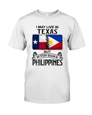 LIVE IN TEXAS BEGAN IN PHILIPPINES Classic T-Shirt tile