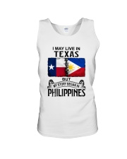 LIVE IN TEXAS BEGAN IN PHILIPPINES Unisex Tank thumbnail