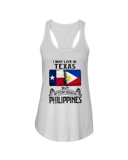 LIVE IN TEXAS BEGAN IN PHILIPPINES Ladies Flowy Tank thumbnail