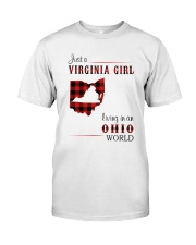 VIRGINIA GIRL LIVING IN OHIO WORLD Classic T-Shirt front